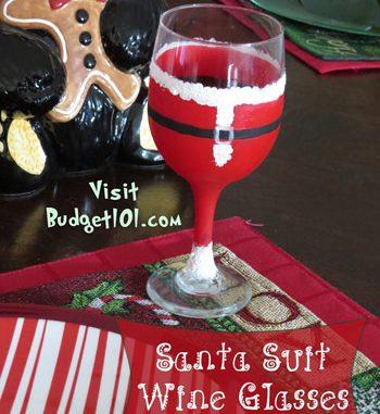 santa wine glass