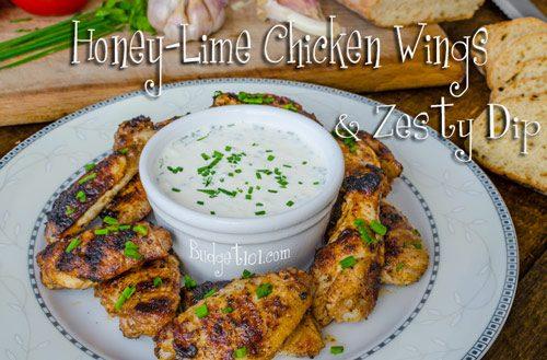 easy honey lime chicken wings
