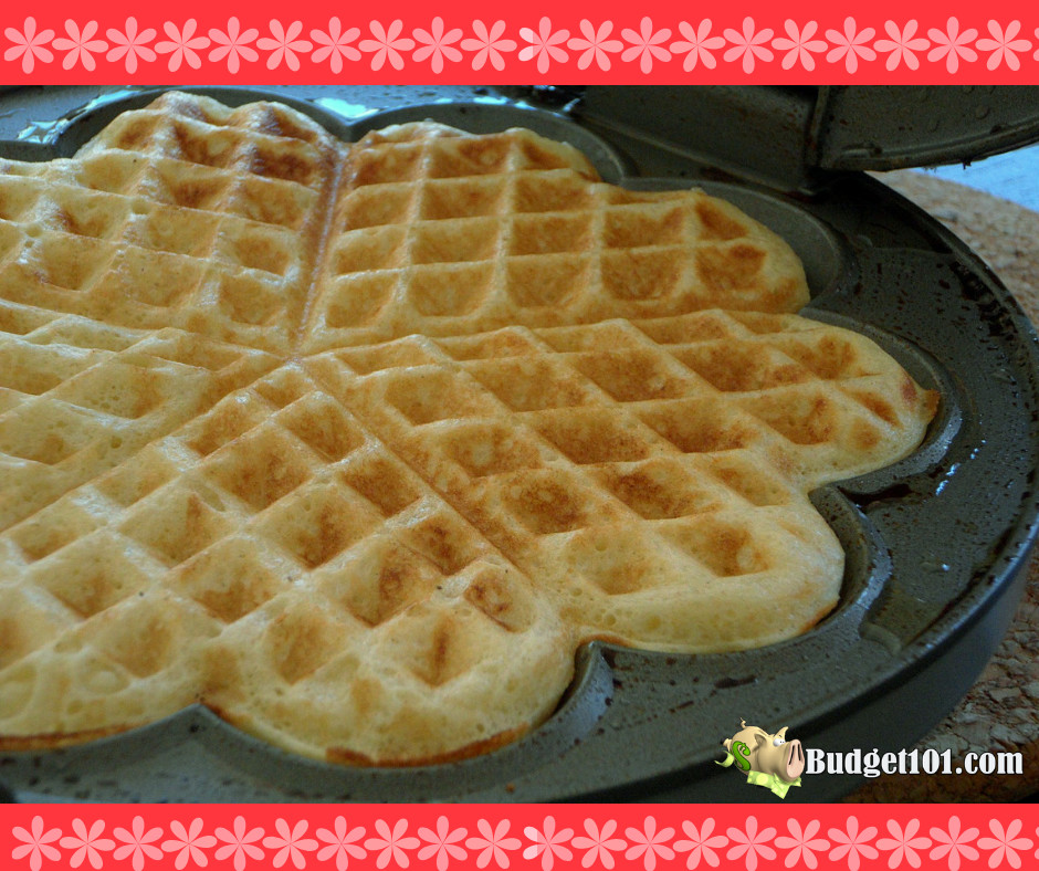 valentine-breakfast-idea-belgian-waffles-with-cherry-sauce