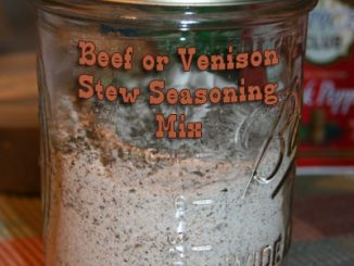 Beef or Venison Stew Seasoning Mix