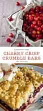 cherry crisp crumble bars