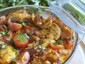 curried tomato chicken casserole