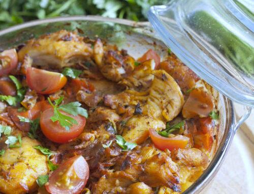 curried tomato chicken casserole