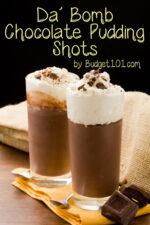 Da' Bomb Chocolate Pudding Shots