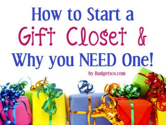 Gift Closets- A Simple Way to Save Money