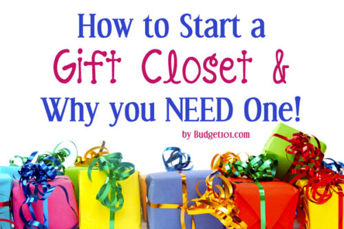 gift closets a simple way to save money