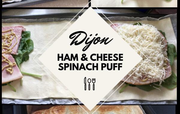 dijon ham cheese spinach puff