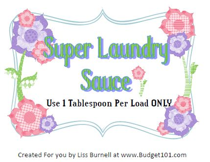 Free Printable Super Laundry Sauce Labels