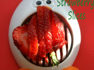 perfect sliced strawberries