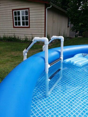 diy pvc pool ladder plans