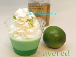 layered margarita or irish cream bites