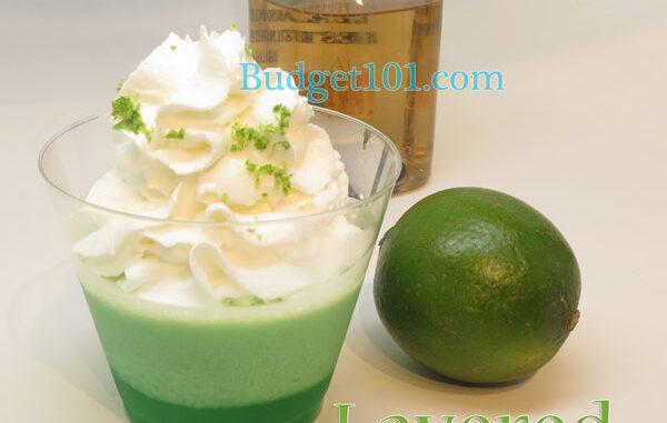 layered margarita or irish cream bites