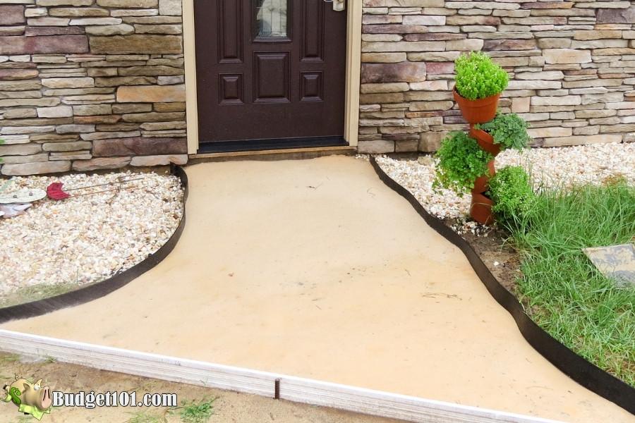 diy slate walkway pack sand down