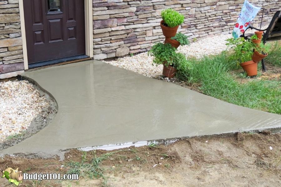 diy slate walkway smooth wet concrete