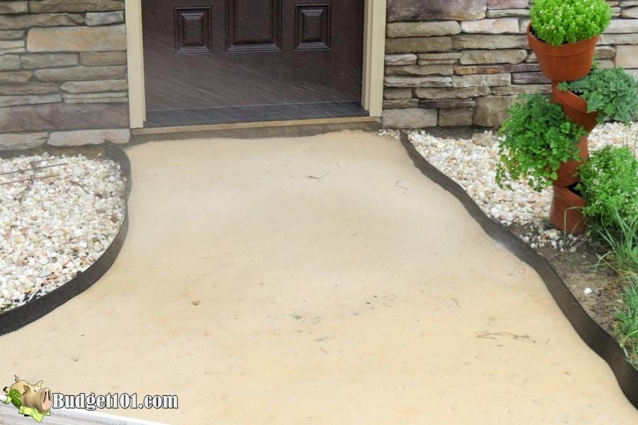 diy slate walkway spray with water