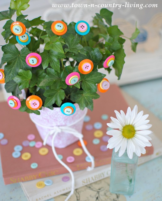 Houseplants Flower Button Decor