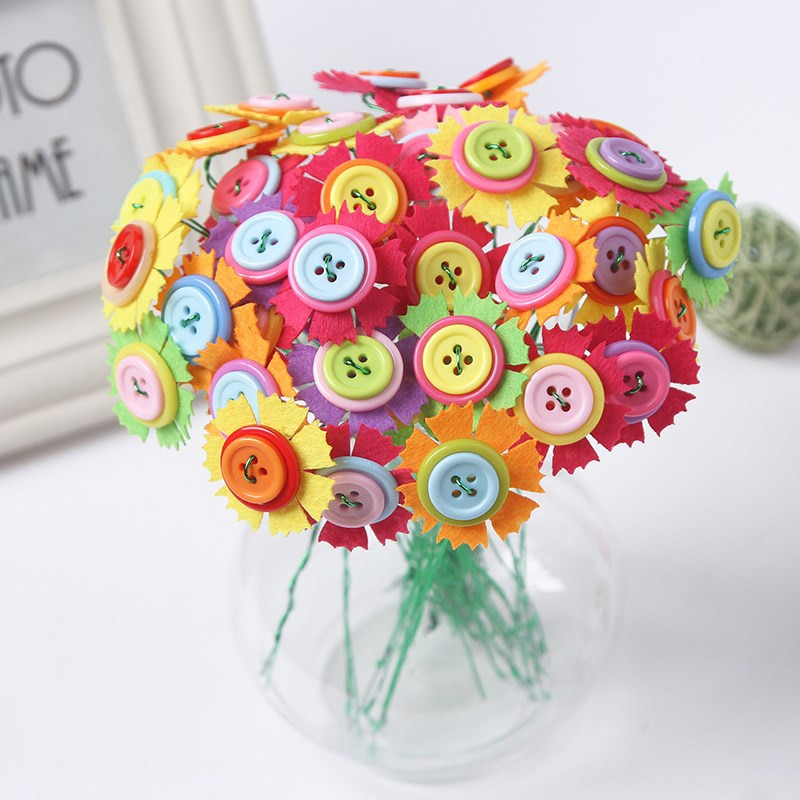 Blooming Flower Button Bouquet for Teachers