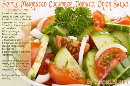 b101 tomato onion cucumber salad