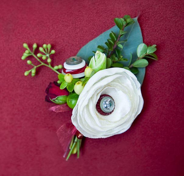 Flower Button boutonniere