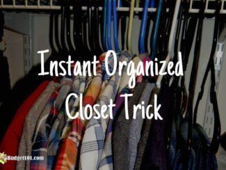 instant organized closet hack