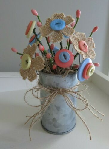 Dress Up with Button Flowers