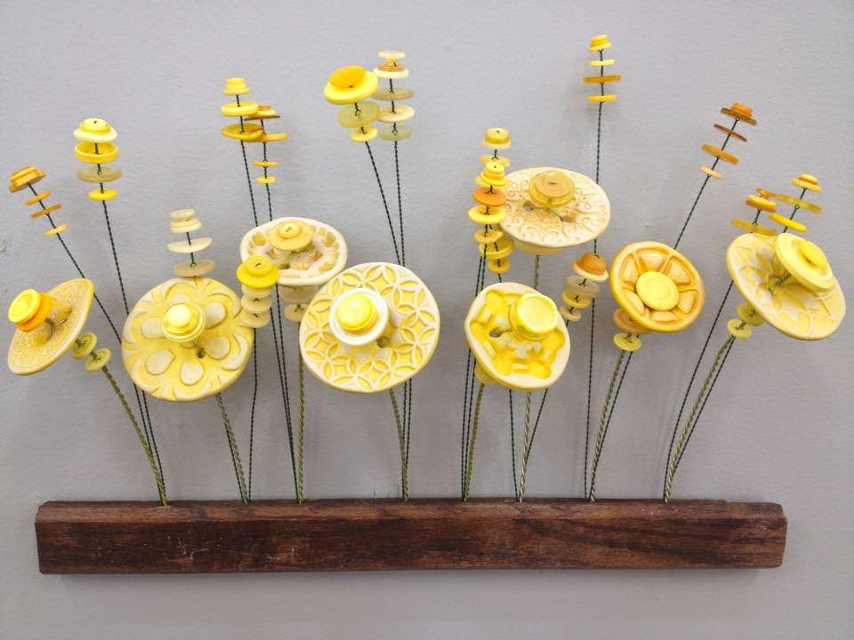 Flower Button Wall Hanging