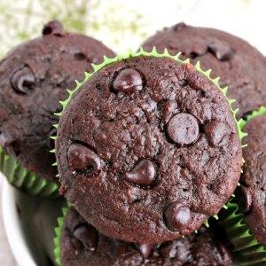 Chocolate Zucchini Banana Bread Muffins
