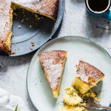 Courgette Almond Polenta Cake (GF)