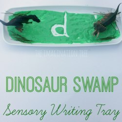 Dinosaur Swamp Sensory Writing Tray