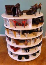 Lazy Susan Shoe Storage Examples 02