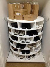 Lazy Susan Shoe Storage Examples 04