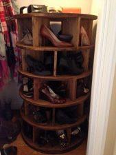 Lazy Susan Shoe Storage Examples 08