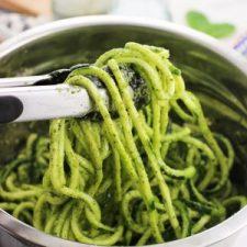 Mint Pesto Zucchini Noodles