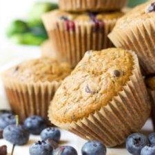 Paleo Blueberry Chocolate Chip Zucchini Muffins