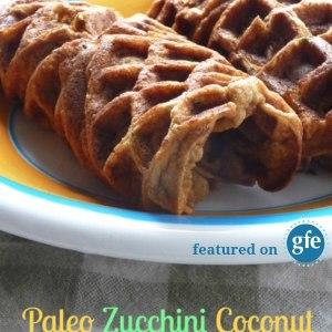 Paleo Zucchini Coconut Waffle Wraps Recipe