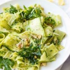 Papardelle With Kale Pesto And Zucchini