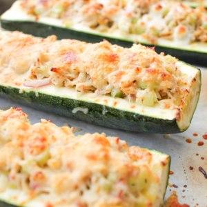 Roasted Zucchini Tuna Melts