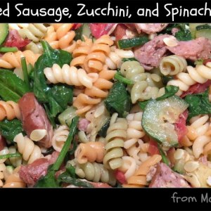 Smoked Sausage, Zucchini, and Spinach Pasta