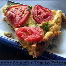 Summer Squash Tomato Frittata — Low Carb, Gluten Free!