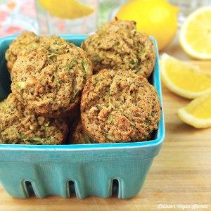 Vegan Lemon-Poppy Zucchini Muffins