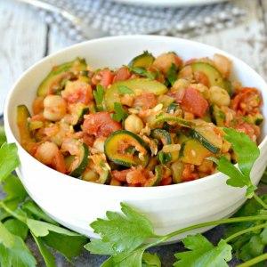 Zucchini Chickpea Stew (Vegan)