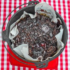 Dutch Oven Chocolate Cherry Lava Cake Recipe