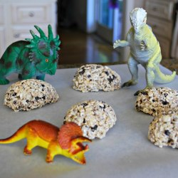 Dinosaur Egg Rice Krispie Treats