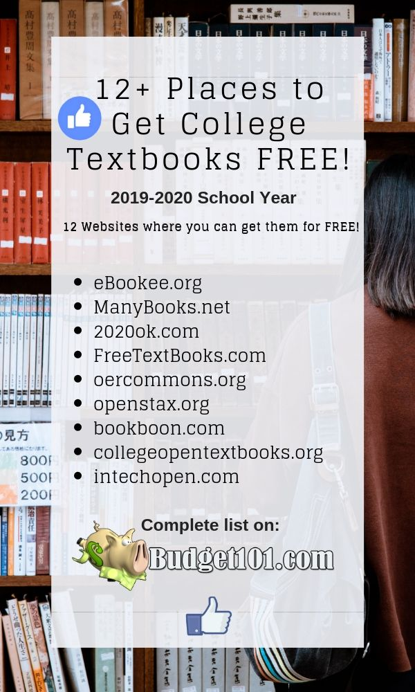 12+ Places to find College Textbooks for FREE #Backtoschool #College #CollegeHacks #Students