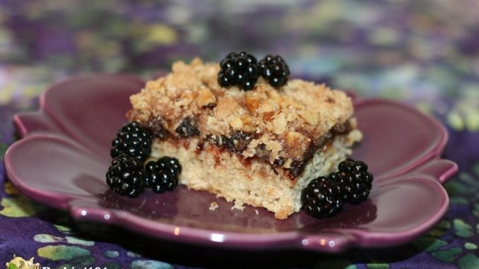 Easy Blackberry Jam Breakfast Bars