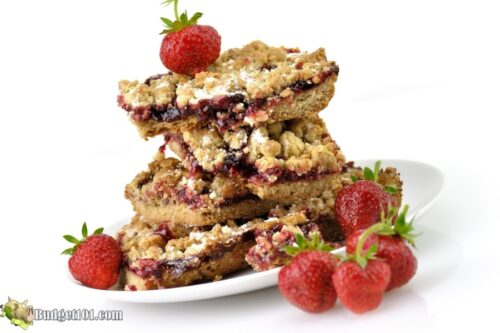 b101 strawberry jam streusel bars