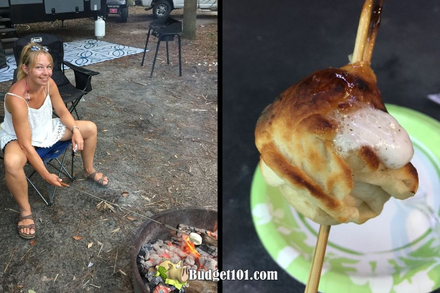 Campfire Cinnabursts (on a stick!)
