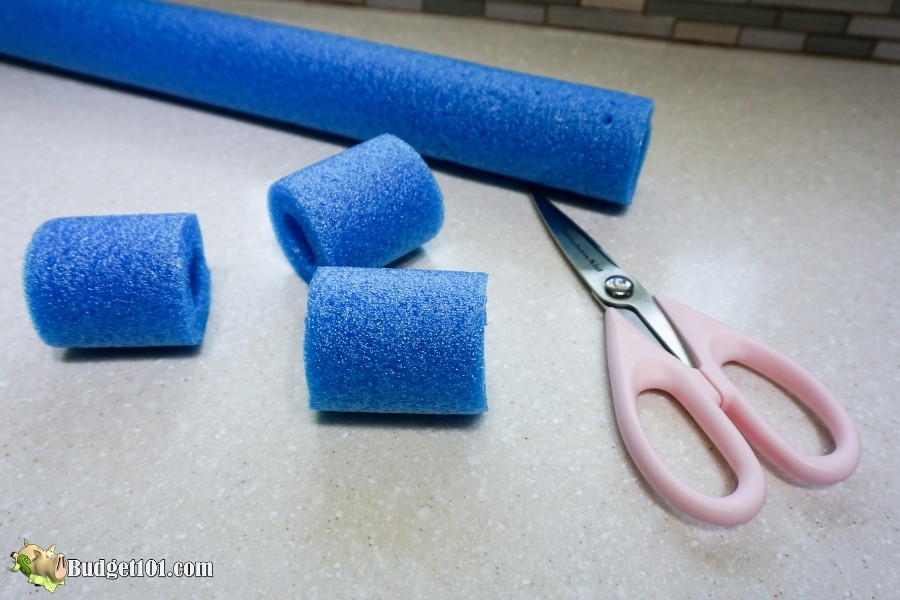pool noodle collar step 1