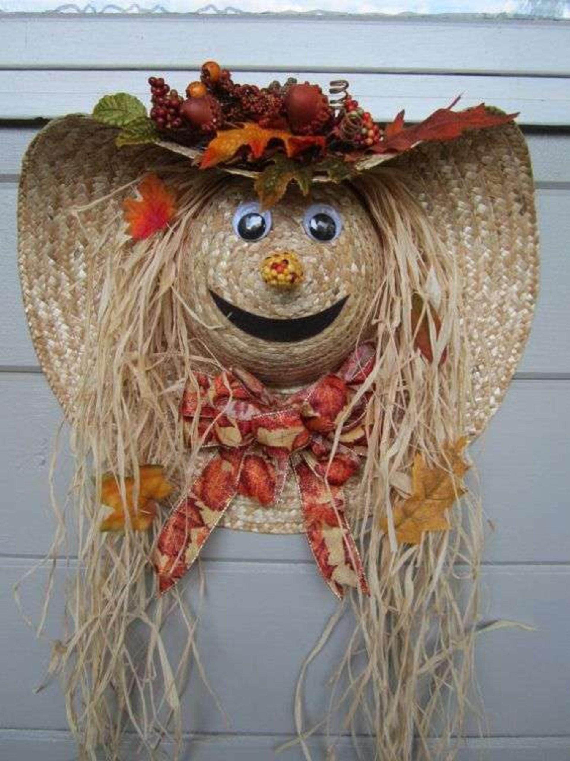 Scarecrow Wreath Straw Hat Tutorial By Budget101 Com