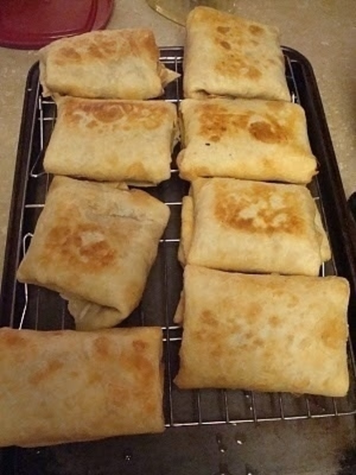 baked chimichangas